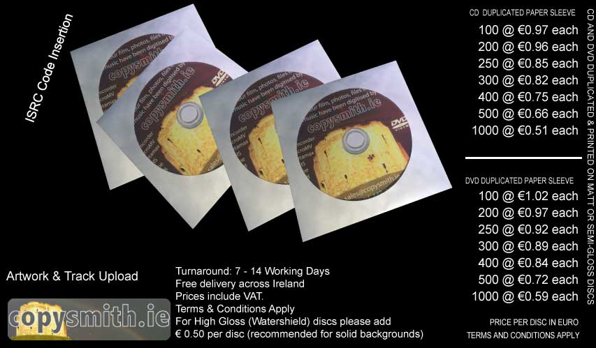 paper, sleeve, wallet, jacket, cover, cd, dvd, duplication, CD duplication, printed, copy, copying, printing